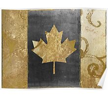 Canada Flag Fashion Gold Poster