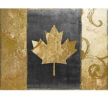 Canada Flag Fashion Gold Photographic Print