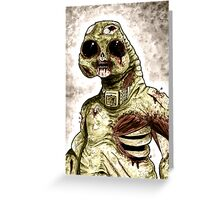 Zombie Slitheen Colour Greeting Card