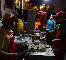 Tacos Al Pastor For The Pilgrims by Bernhard Matejka
