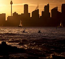 On the water - Sydney harbor by Adriano Carrideo