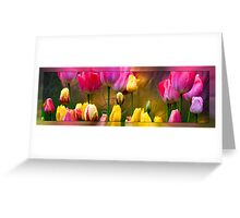 Tulips On Silver Greeting Card