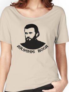 Tricou cu Sfantul Arsenie Boca Women's Relaxed Fit T-Shirt