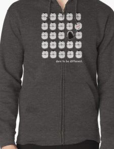 Dare To Be Different Zipped Hoodie