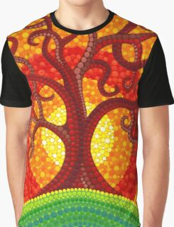 Autumn Illuminated Tree Graphic T-Shirt