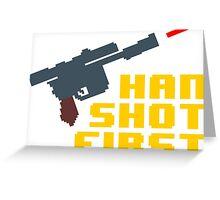 8-bit Han shot first Greeting Card