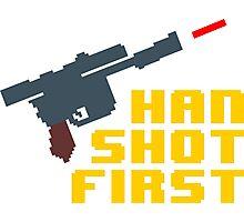 8-bit Han shot first Photographic Print