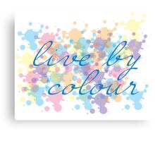 Living by colour Canvas Print