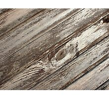 Surface of the old wooden planks brown Photographic Print