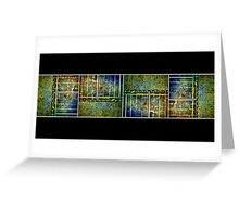 Below The Water Line Tetraptych [grunge] Greeting Card