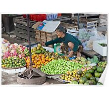Fresh Fruit Lady Poster