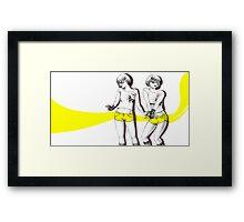 Twopose Framed Print