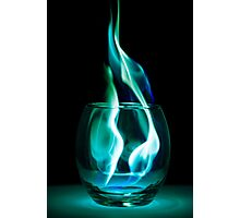 Iced Flames in a Glass Photographic Print