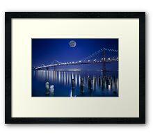 Moon Kissed Bay Bridge Framed Print