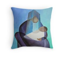 Mary and The Baby Messiah Throw Pillow