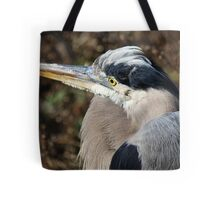 Close Up Great Blue Heron Tote Bag