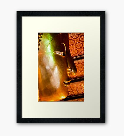 Head Of Reclining Buddha Framed Print