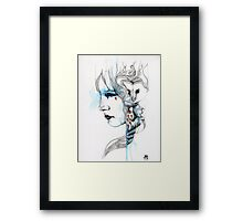 Bleu Framed Print