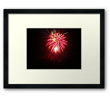 slowmotion french fireworks - abstract in the sky #1 Framed Print