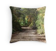 Country Road to Guion Throw Pillow