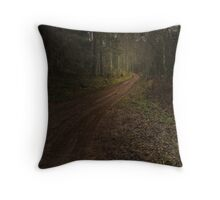 The road in the forest Throw Pillow