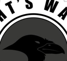 Night's Watch Sports Badge Sticker
