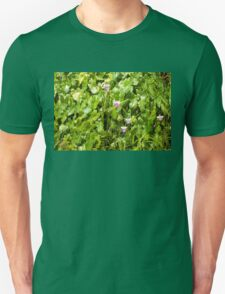Living in Nature with Blossoms and Leaves T-Shirt