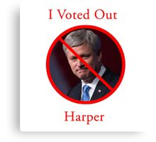 I Voted Out Harper Canvas Print