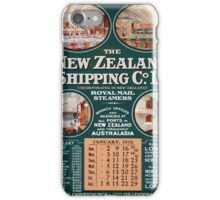 New Zealand Shipping Co. Vintage Poster iPhone Case/Skin