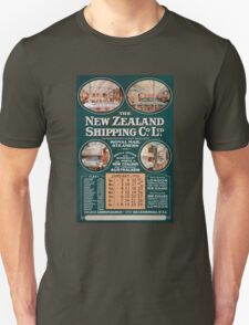 New Zealand Shipping Co. Vintage Poster T-Shirt