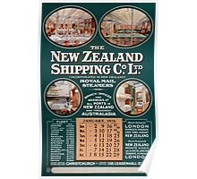 New Zealand Shipping Co. Vintage Poster Poster