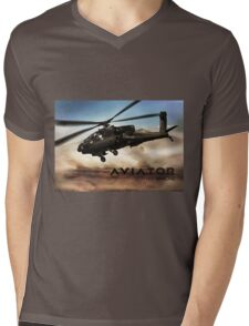 AH-64 Apache Helicopter Mens V-Neck T-Shirt