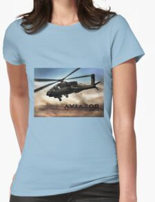 AH-64 Apache Helicopter Womens Fitted T-Shirt