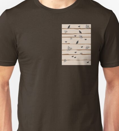 Natural Habitat Bird and Flower Unisex T-Shirt