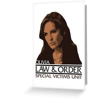"""Olivia """"Liv"""" Benson – Special Victims Unit – Law & Order Greeting Card"""