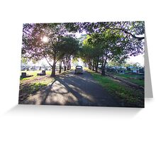 Old 1950s VW Beetle at Cemetery Greeting Card