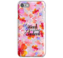 Bright pink orange clover floral typography iPhone Case/Skin
