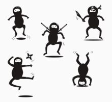 Ninjas are Better than Pirates Mini Stickers Pack by fishbiscuit