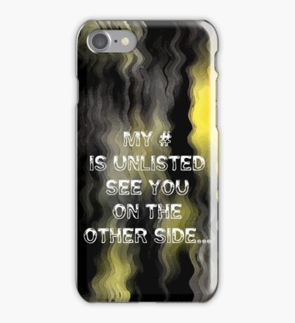iPhone Case.. Ghostly thought... iPhone Case/Skin