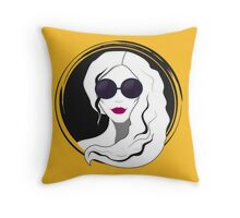 Woman fashion with sunglasses Throw Pillow