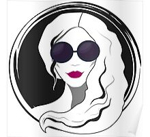 Woman fashion with sunglasses Poster