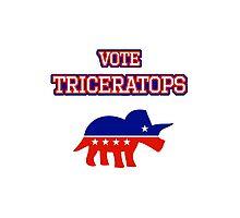 Vote Triceratops Photographic Print