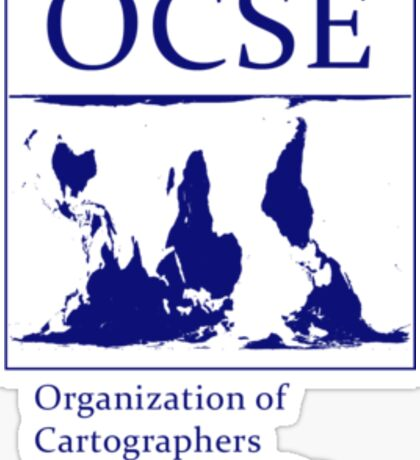 The Organization of Cartographers for Social Equality Sticker