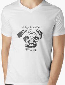 My little Pug Mens V-Neck T-Shirt