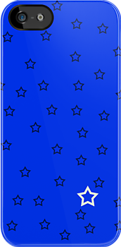 Stars with a Single White v4 - Blue by HighDesign