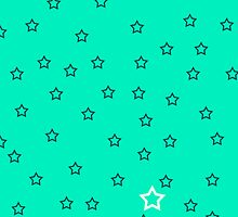 Stars with a Single White v5 - Light Blue by HighDesign