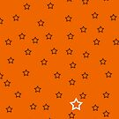 Stars with a Single White v8 - Orange by HighDesign