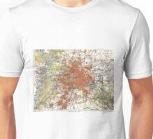 Vintage Map of Berlin Germany (1905) Unisex T-Shirt