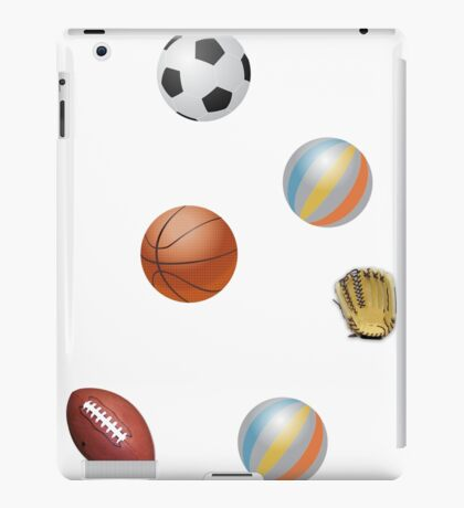 Photo's of ball's from different sports iPad Case/Skin