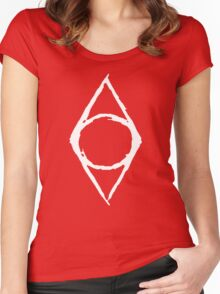 Thieves Guild Shadowmark (white) Women's Fitted Scoop T-Shirt